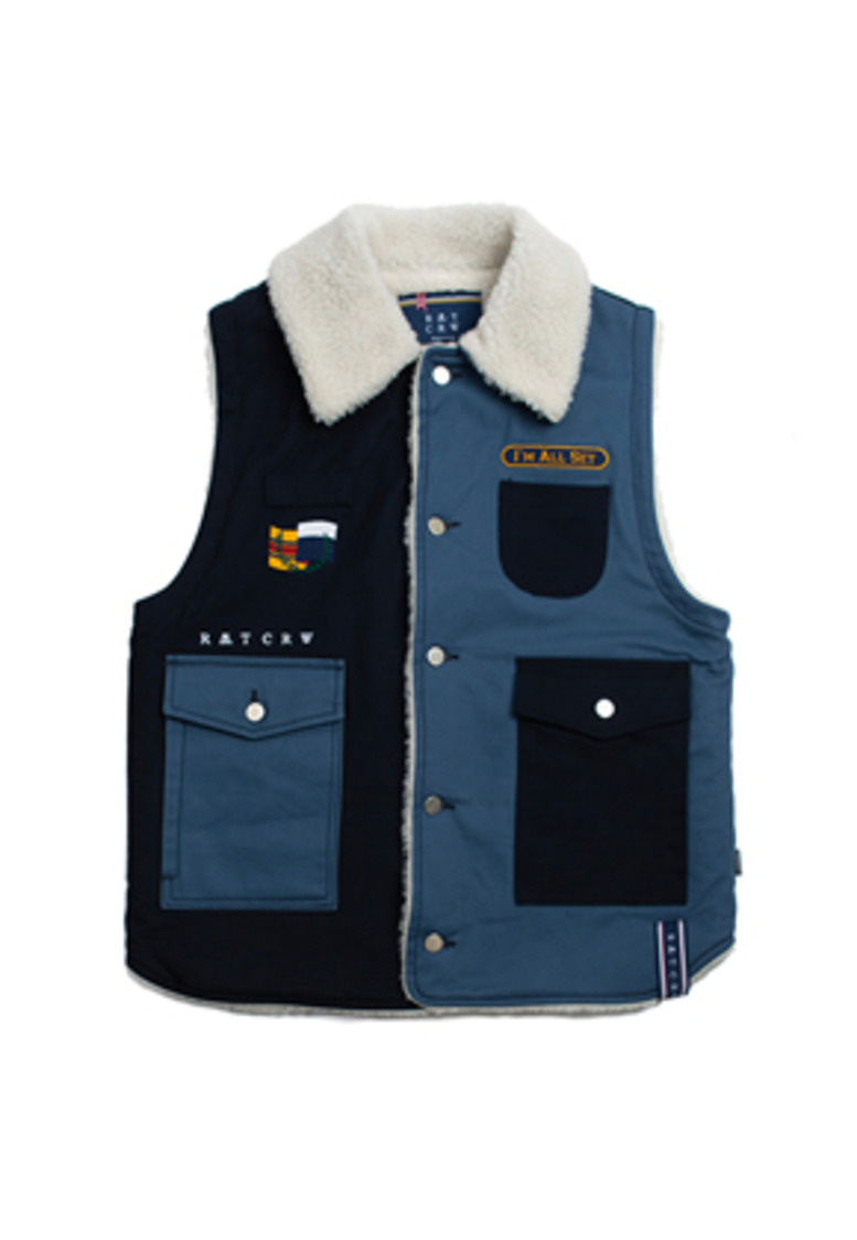 Romantic Crown로맨틱크라운 Retro Hunting Vest_Navy