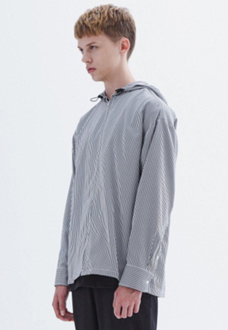 MMGL미니멀가먼츠랩 Hooded shirt (Stripe)