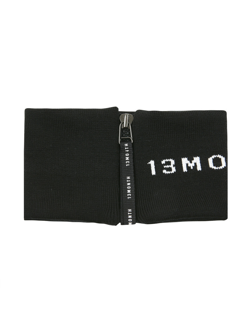 13Month써틴먼스 ZIP-UP NECK WARMER (LOGO BLACK)