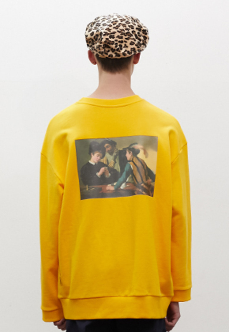 SNACKCULTURE스낵컬쳐 Cardsharps Oversized Sweatshirt_Yellow