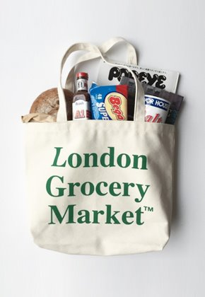 London Grocery Market런던그로서리마켓 (당일출고) Cotton Market Bag