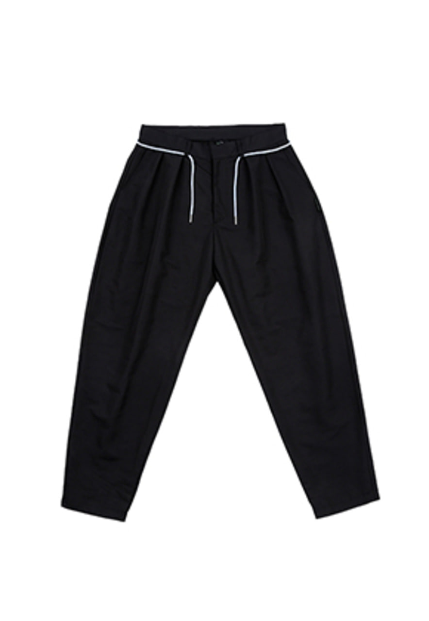 AJO BY AJO FINK LABEL Two Tuck Baggy Pants [Black]