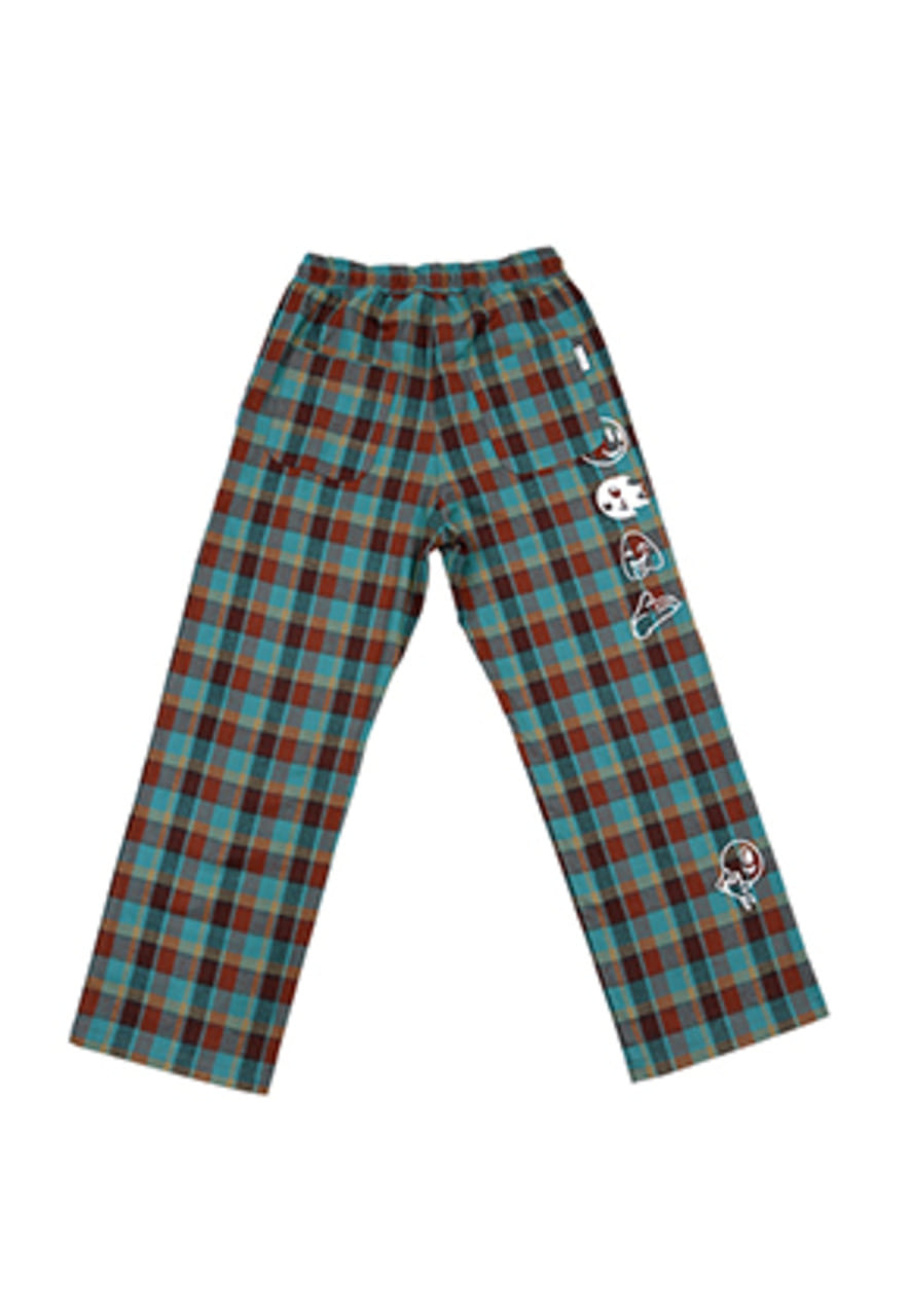 AJO BY AJO FINK LABEL Grime Check Pants [Cyan]