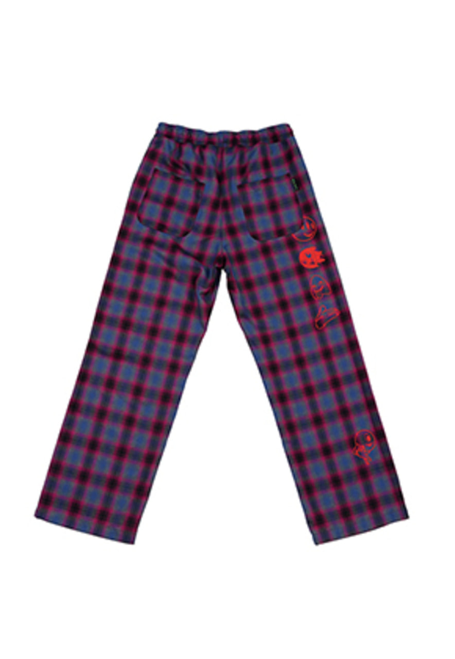 AJO BY AJO FINK LABEL Grime Check Pants [Magenta]