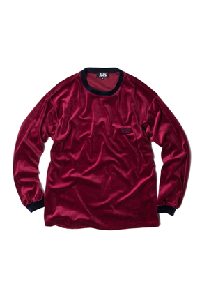 SANDPIPER샌드파이퍼 VELOUR CREW NECK BURGUNDY