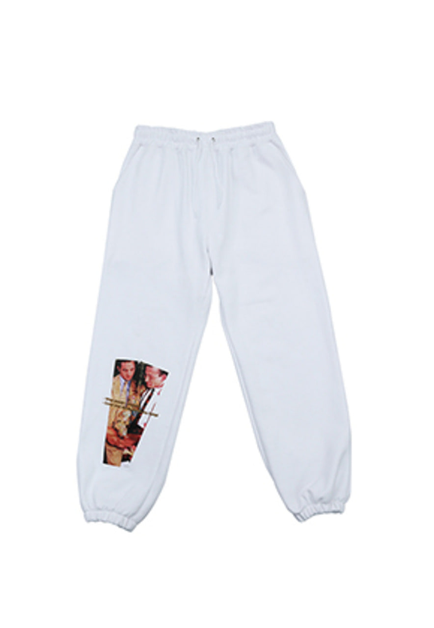 AJO BY AJO FINK LABEL XXX Sweatpants [White]