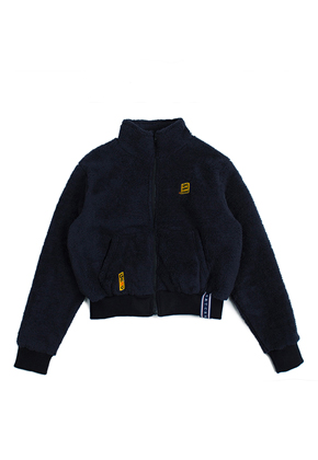 Romantic Crown로맨틱크라운 Yeti Short Jacket_Navy