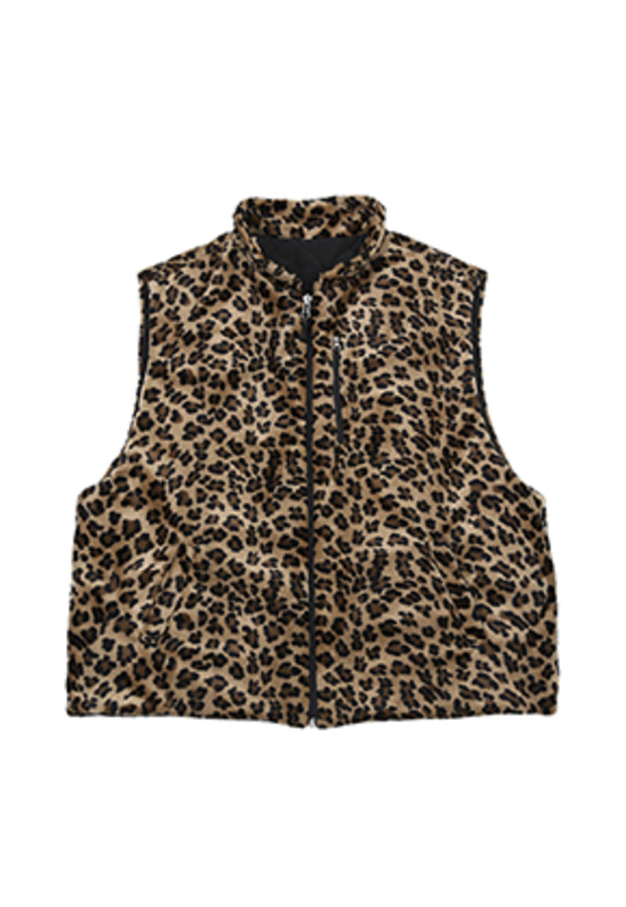 AJO BY AJO FINK LABEL Reversible Fake Fur Vest [Leopard]