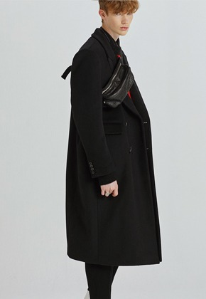Haleine알렌느 BLACK oversized doublebreast coat(GJ004)
