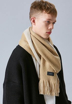 Voiebit브아빗 V810 BOTH WOOL MUFFLER  BEIGE