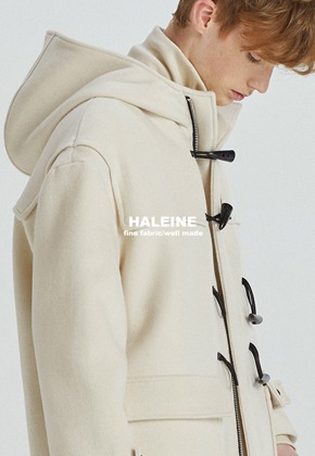 Haleine알렌느 CREAM wool duffel coat(HJ047)