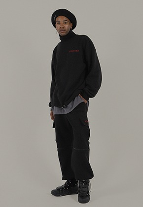 EGOTRIP이고트립 ZIPPER JOGGER PANTS (black)