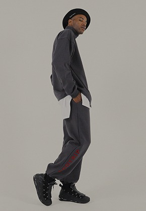 EGOTRIP이고트립 LOGO JOGGER PANTS (gray)