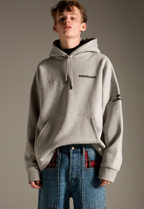 Anderssonbell앤더슨벨 UNISEX ANDERSSON UTILITY POCKET HOODIE atb237u(Gray)
