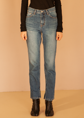Decolor디컬러 Open Inside Denim -Indigo-