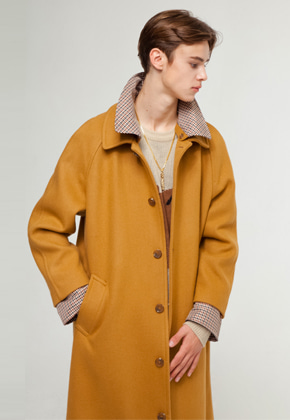 The Greatest더 그레이티스트 GT18FW09 CHECK WOOL COAT