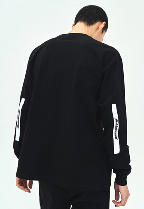 Field Manual필드메뉴얼 ELBOW BOX LOGO LONG SLEEVE TEE black