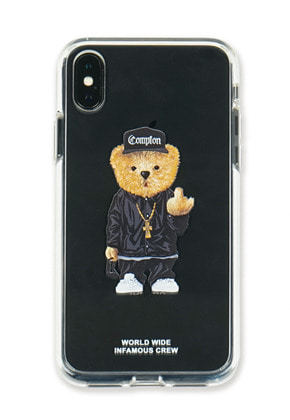 Stigma스티그마 PHONE CASE COMPTON BEAR CLEAR iPHONE Xs / Xs MAX / Xr