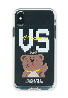 Stigma스티그마 PHONE CASE VS BEAR CLEAR iPHONE Xs / Xs MAX / Xr
