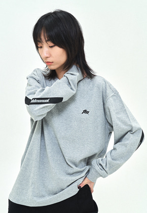 Field Manual필드메뉴얼 ELBOW BOX LOGO LONG SLEEVE TEE grey