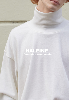 Haleine알렌느 CREAM wool highneck cutsaw(HT012)