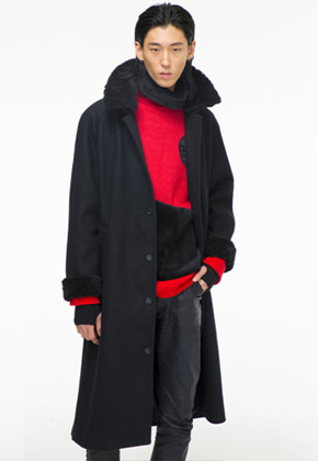 The Greatest더 그레이티스트 GT1819W 05 WOOL Coat BLACK
