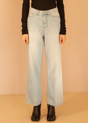 Decolor디컬러 Heavy Wide Denim -Bio fade-