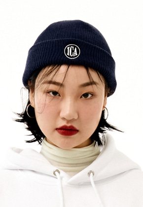 INNER CITY AUDIO이너시티오디오 CIRCLE LOGO EMBROIDERY BEENIE NAVY