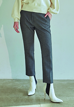 Deans딘스 [DEANS] PREMIUM STRAIGHT SLACKS_CHARCOAL