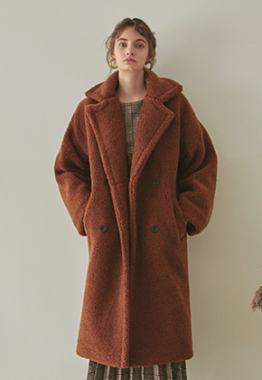 Yan13얀써틴 DUMBLE LONG MUSTANG COAT_CAMEL