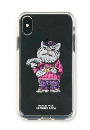 Stigma스티그마 PHONE CASE CATSGANG CLEAR iPHONE Xs / Xs MAX / Xr
