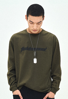 Field Manual필드메뉴얼 SWORDGRAPHY LONG SLEEVE TEE khaki