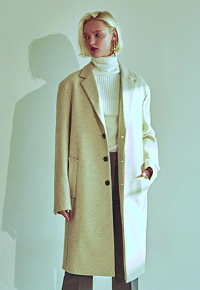 Deans딘스 [DEANS] W STAND WOOL SINGLE COAT_IVORY