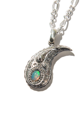 Kruchi크루치 Opal paisley necklace (silver)