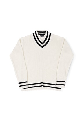 Ballute발루트 V NECK CRICKET KNIT (IVORY)