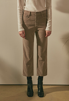 Yan13얀써틴 CORDUROY STRAIGHT PANTS_LIGHT BROWN