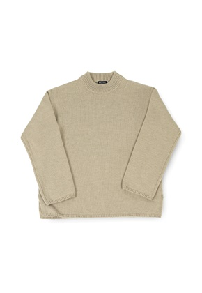 Ballute발루트 FISHERMAN CREWNECK KNIT (TAN)