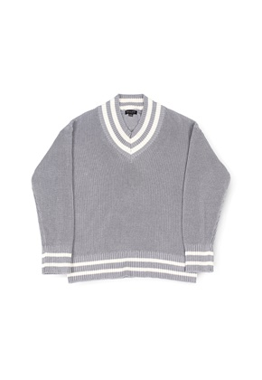 Ballute발루트 V NECK CRICKET KNIT (GREY)