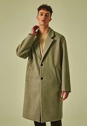 Deans딘스 [DEANS] WOOL SEMI OVER SINGLE COAT_GRAY
