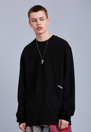 Voiebit브아빗 V351 MINIMALISM LONG-SLEEVE  BLACK