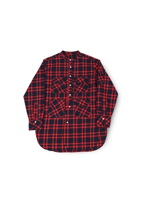 Ballute발루트 FISHERMAN TUNIC SHIRT (RED TARTAN)