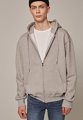 Yan13얀써틴 STAND ZIP-UP HOODY_GRAY