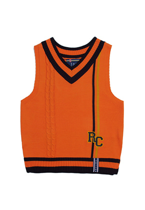 Romantic Crown로맨틱크라운 RC Double Line Vest_Orange