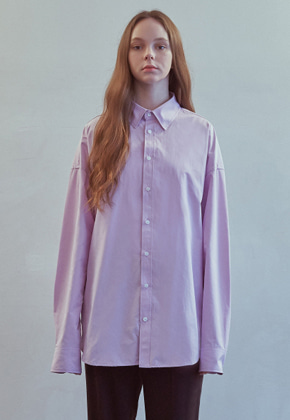 MMGL미니멀가먼츠랩 Semi-oversized shirt (Purple)