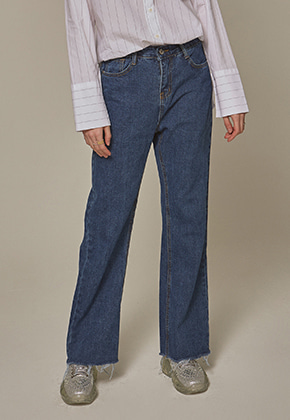 Yan13얀써틴 TRENDY LONG WIDE JEAN_DENIM