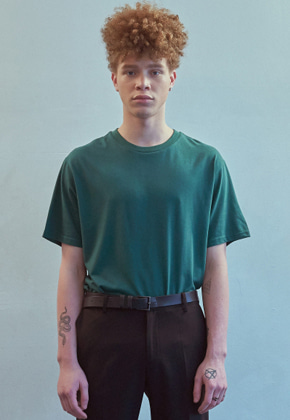 MMGL미니멀가먼츠랩 Silk essential t-shirt (Deep-green)