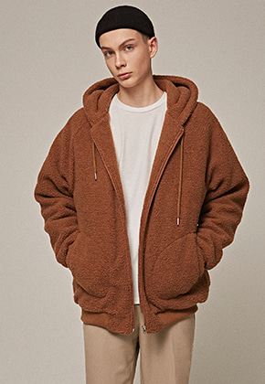 Yan13얀써틴 DUMBLE ZIP-UP HOODY_CAMEL
