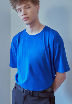 MMGL미니멀가먼츠랩 Semi-oversized t-shirt (Cobalt-blue)