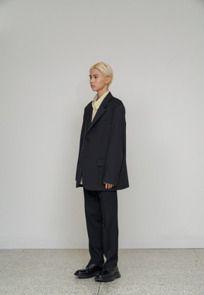 STU에스티유 2 Button overfit blazer black
