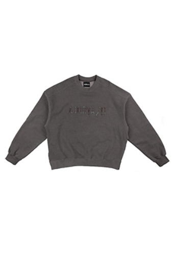 AJO BY AJO아조바이아조 Oversized Slit Sweat Shirt [Grey]